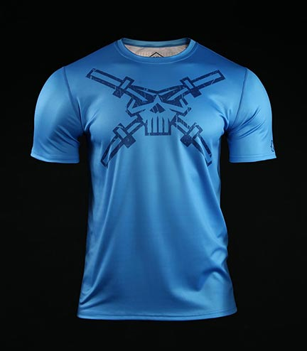 Training t-shirt Crossborn Skull Dirt Blue
