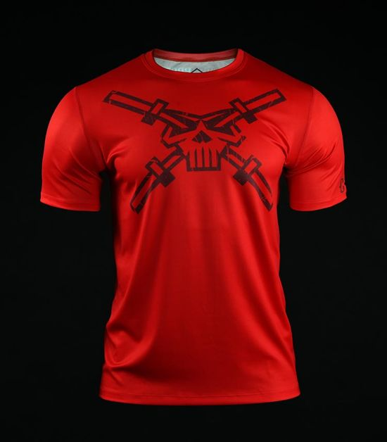 Training t-shirt Crossborn Skull Dirt Red