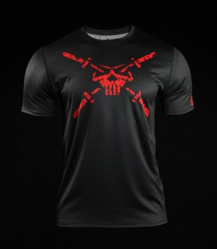 Koszulka treningowa (T-shirt) Crossborn Skull Dirt Czarna